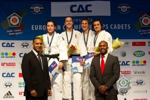 Chiara Carminucci sul podio di Talli (Estonia)