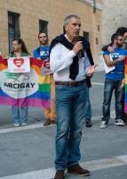Bruno Valentini alla manifestazione arcobaleno
