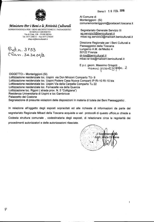 Monteriggioni_Segnalazioni di presunte violazioni delle disposizioni in materia di beni paesaggistici